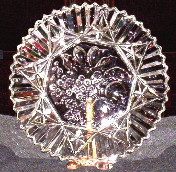 Federal Glass Pioneer Crystal Sandwich Plate