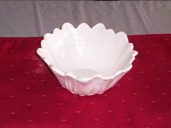 LILY PONS-MILK GLASS by INDIANA GLASS BOWL