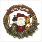 Plush friends christmas wreath