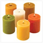 Earthtone Pillar Candles
