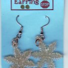 Dangle Earrings Yellow SNOWFLAKE Handmade  #H019