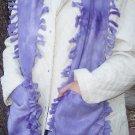 Handwarmer Pocket Scarf Purple Design Fleece Winter Neck Scarf S2009704