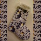 Penquin Christmas Stocking Handmade 200913