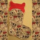 Bone Top Dog Pet Christmas Stocking Handmade 200915