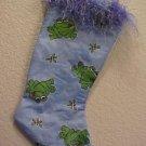 Small Frogs Christmas Stocking Handmade 200921