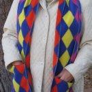 Colorful Argyle Pocket Handwarmer Winter Scarf Design Fleece Neck 69 x 10 S2009710