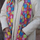 Colorful Polka Dot Circles Pocket Handwarmer Winter Scarf Design Fleece Neck 70 x 9 S2009711