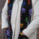 Colorful Paw Prints Handwarmer Pocket Winter Scarf Design Fleece Neck 70 x 9 S2009714