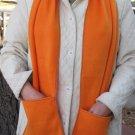 Orange Handwarmer Pocket Winter Scarf Design Fleece Neck 69 x 9 S2009718