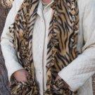 Tiger Design Handwarmer Pocket Winter Scarf Tied Edges Fleece Neck 67 x 11 S2009728