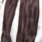 Faux Fur Fake Brown Fur Lined Handwarmer Pocket Winter Scarf Neck 66 x 7.5 S2009732
