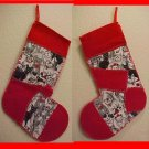 Cat Kitten Lover Christmas Stocking Handmade Hand Sewn Recycled One of a Kind 200911