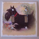 Double LIGHTSWITCH PLATE COVER Dog Pet Scottie Handmade in the USA