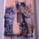 LIGHTSWITCH PLATE COVER Kittens Cats Handmade in the USA