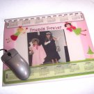 MOUSE PAD Upcycled Journal Notebook with Photo frame mousepad  Handmade in the USA #2010035