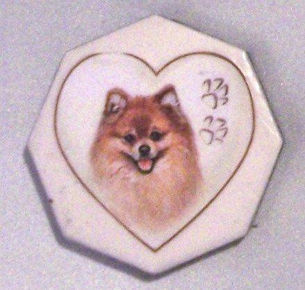 Ceramic TILE MAGNET Pomeranian design 2.5 inch Refrigerator magnet 2010073