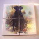 Wall Tiles BLACK LAB Dog Pets Animals Made in the USA #2010099