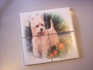 Wall Tiles WESTIE Dog Pets Animals Made in the USA #2010101