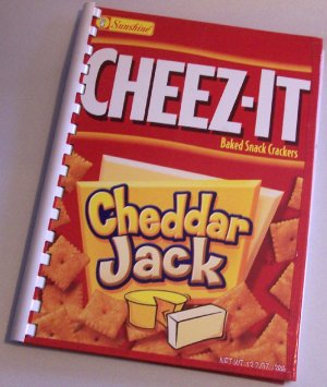 Notebook Journal Recycled Upcycled from CHEEZ-IT CHEDDAR Box #2010130