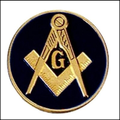 "BLUE LODGE EMBLEM ( BLACK )3"" POLY-CARBONATE  Masonic Motorcycle / Auto Car Emblem"