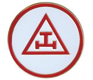 "TRIPLE TAU 3"" POLY-CARBONATE  Masonic Motorcycle / Auto Car Emblem"