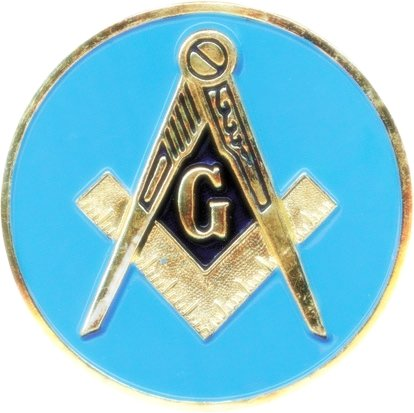 AUTO CAR BADGE EMBLEM - BLUE LODGE SQUARE AND COMPASSES - FREEMASONS FREEMASON MASONS MASON MASONIC