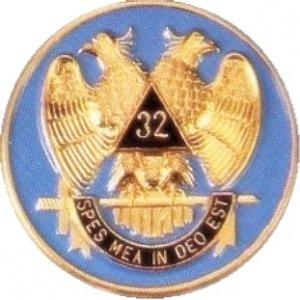 AUTO CAR BADGE EMBLEM - 32nd Degree Consistory! SCOTTISH RITE MASON FREEMASONS FREEMASON MASONS