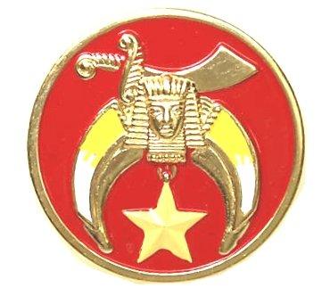"SHRINE - RED 3"" POLY-CARBONATE Masonic Motorcycle / Auto Car Emblem"
