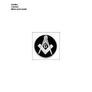 "MASONIC~2""RND METAL BLACK MOTORCYCLE/AUTO BADGE EMBLEM,MASON FREEMASON LOGO GIFT"