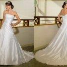 Free shipping maggie sottero a line strapless wedding dress Adena