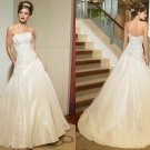Free shipping maggie sottero a line strapless wedding dress Ainsely