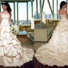 Free shipping maggie sottero a line strapless wedding dress Aleena
