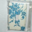 BLUE AND WHITE SPODE FLORAL DESIGN DECORATIVE LIGHT SWITCHPLATE AND OUTLET COVER SET