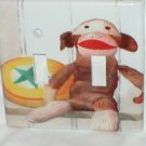 SOCK MONKEY DECORATIVE LIGHT SWITCHPLATE COVER