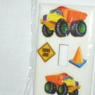 DUMP TRUCKS DECORATIVE LIGHT SWITCHPLATE COVER CUTE FOR YOUR LITTLE ONE'S ROOM