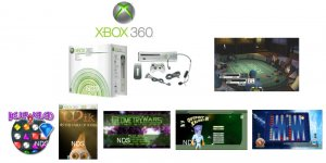 """Xbox 360 """"Premium Gold Pack"""" Video Game System with 6 Great Games"""