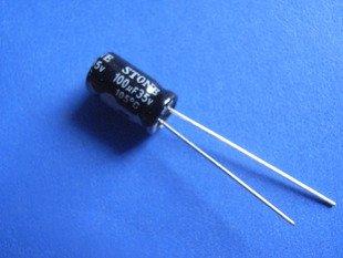 100UF 35V Electrolytic Capacitor (Item# C0124)