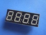 5461BS 0.6 Inch, clock mode, red, common anode 4-digit 7-segment module (Item# S0011)