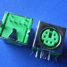 Connector / Socket, PS2 socket 6P green, 5 pcs. (Item# S0120)
