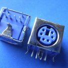 Connector / Socket, PS2 KB socket 6P purple, 5 pcs. (Item# S0121)