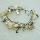 White Pearl and Shell Bracelet