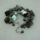 Black Squared Shell Bracelet