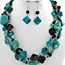 Turquoise and Black Shell Set