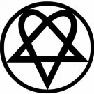 "4"" Him Heartagram Sticker, Decal, Music Car Band Laptop iPhone Truck Window Fun"