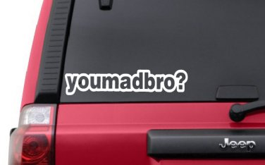 YOU MAD BRO? V1 Decal JDM Sticker Vinyl Stance Lowered Illest Fatlace Racing Turbo