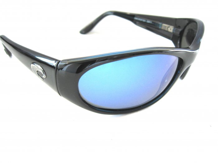 COSTA DEL MAR SWORDFISH 580 BLACK BLUE MIRROR
