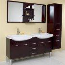 Vetta Expresso Double Bathroom Vanity, Double Vanity Sinks, Double Sink Vanity w/Marble Countertop