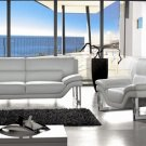 Cream Modern Contemporary Leather Sofa Set, Modern Design Furniture