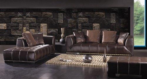 Expresso Modern Contemporary Italian Leather Sofa Set, Modern Design Furniture
