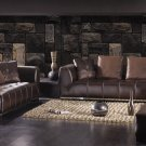 Expresso Modern Contemporary Italian Leather Sofa Set, Modern Design Furniture